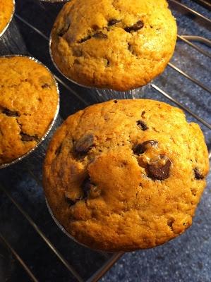 Las recetas de la familia Tartufo: Muffins con pepitas de chocolate
