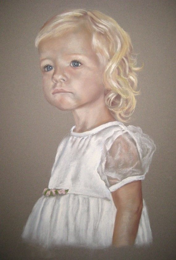 SALE and FREE SHIPPING-Custom Pastel Portrait