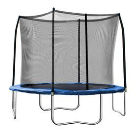 Skywalker 10-Ft Round Blue Backyard Trampoline With Enclosure Swtc1000