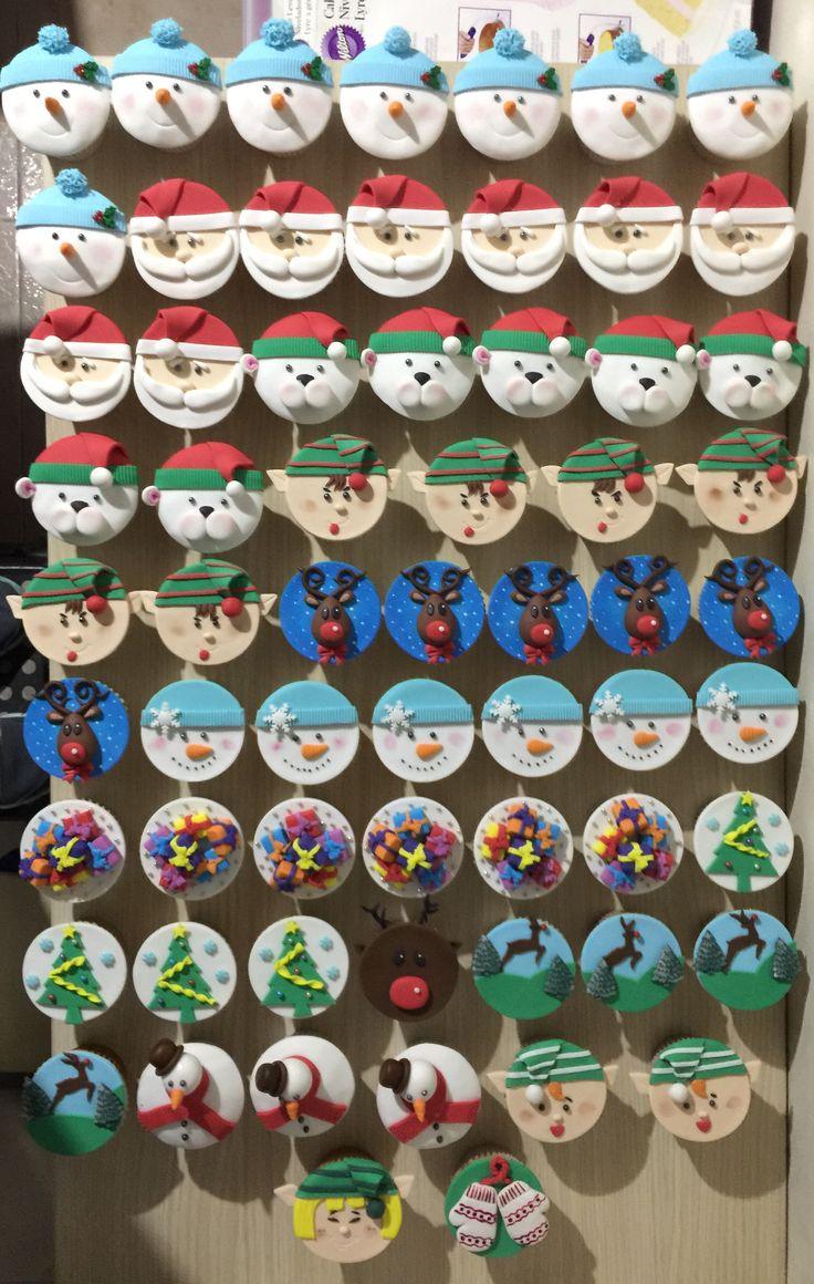 Linda y dulce novena con estos hermosos cupcakes de navidad