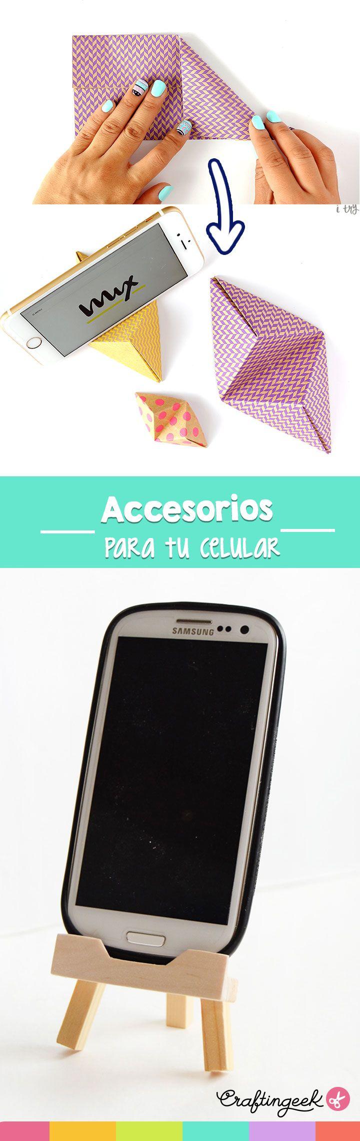 Accesorios fáciles para tu escritorio, soporte para celular.