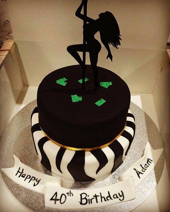 Pole Dancer Birthday Cake Topper Birthday by SugarBooBespokeGifts