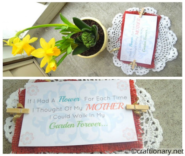 Mother's Day is on its way. This is so sweet!: Holiday Ideas, Gift Ideas, Flower Pots, Mother Day Gifts, Free Printable, Mother'S Day, Craft Ideas