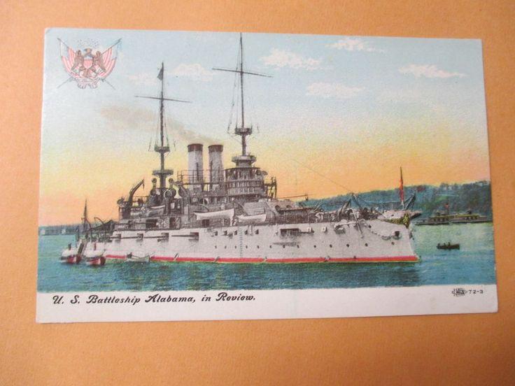 1908 US BATTLESHIP ALABAMA