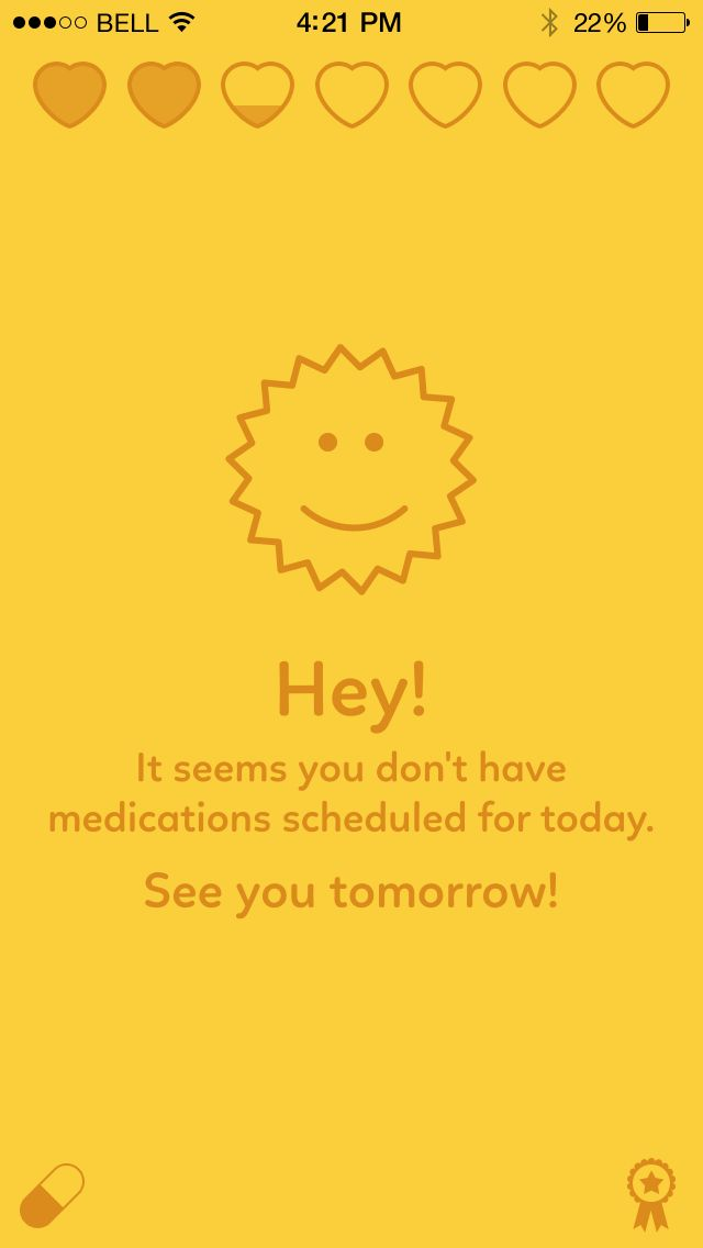 No meds today in Transplant Hero for iOS (submitted & designed by @stanfy)