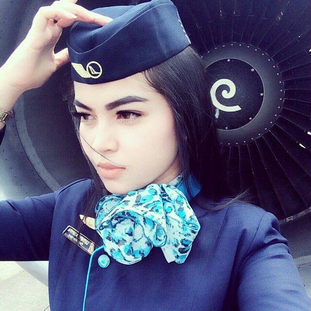 NAM Air Stewardess Engine Crewfie @luthfiaashyfa