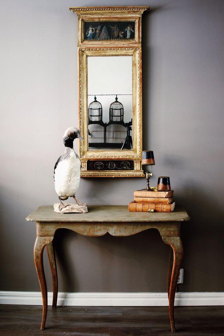 Gustavian Mirror, Rococo Table