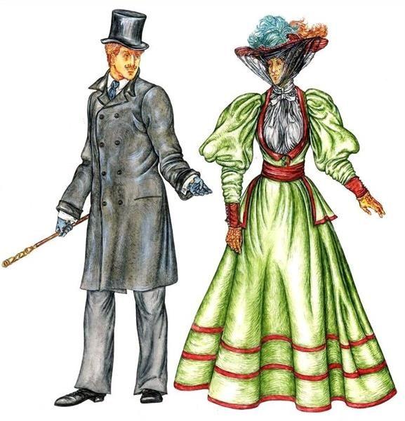 Доклад европейский костюм 19 века