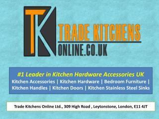 Explore all your kitchen accessories, wardrobe accessories under one umbrella from the biggest kitchen hardware e-store UK - Tradekitchensonline.co.uk