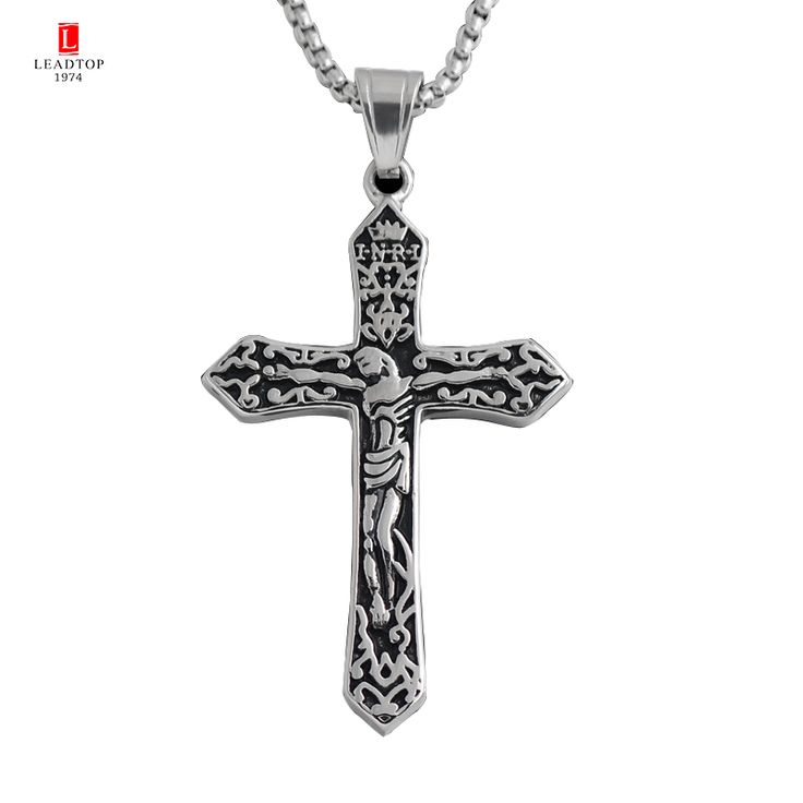Find More Pendants Information about Cross Pendant with Gold Jesus Piece Eastern Orthodox Jesus Cross Pendant In Stainless Steel,Russian and Greek Saint Church Gift,High Quality russian cross pendant,China saint pendants Suppliers, Cheap greek cross pendants from Leadtop1974 Store on Aliexpress.com