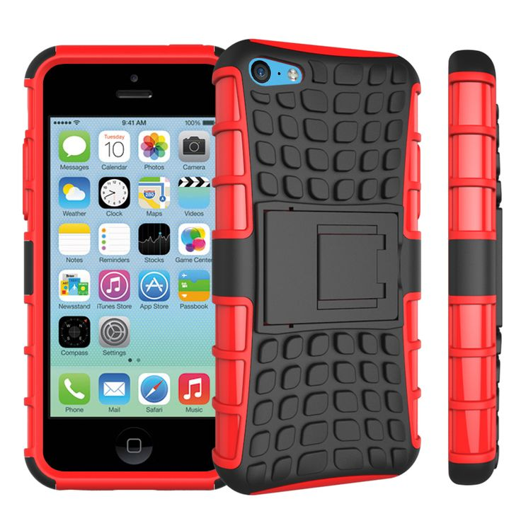 Top Quality Rugged Kickstand Armor Case for Apple iPhone 5C Hard Shock Proof Case With Stand Phone Accessory Funda