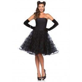 Rockabilly swing jurk zwart dames | PW Hoofs