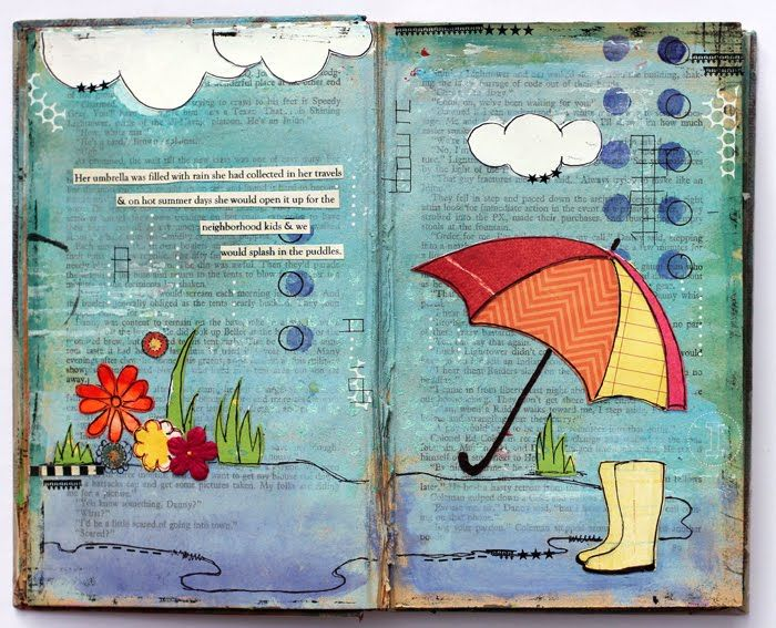 recycled vintage book - by Kathie Link. old book into book of quotes. **