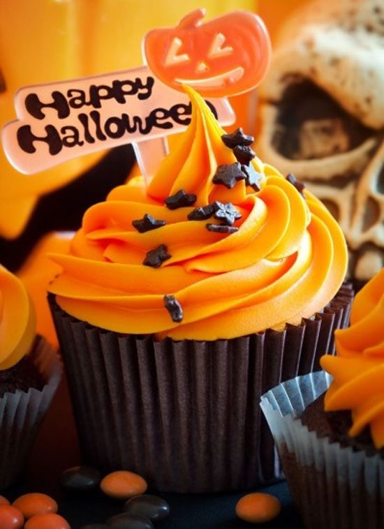 Happy★Halloween Cupcakes calabaza Cupcakes                                                                                                                                                                                 More