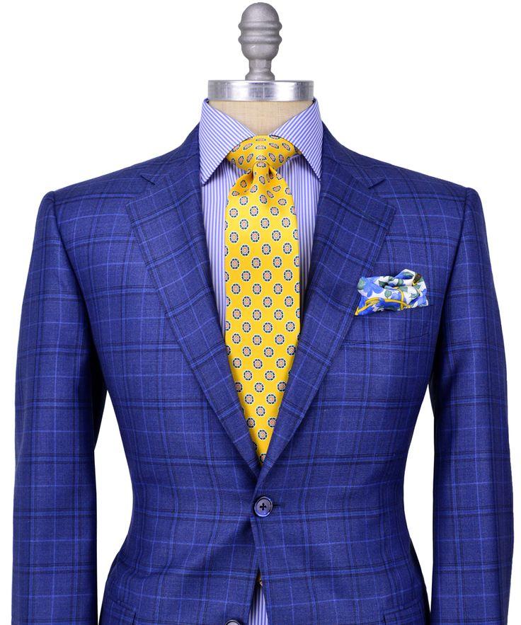 Stanley Korshak | Belvest Blue Plaid Sportcoat