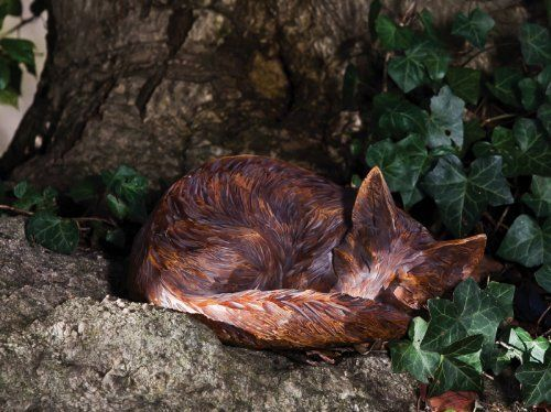 """Sleeping Fox Statue by Accent Your Life. $39.99. 14"""" x 10.5"""" x 6"""". Great for yourself or as a gift. Made of polystone. Appearing to be hand-crafted from wood, this sleeping fox statue is a stunning piece perfect for any rustic setting!"""