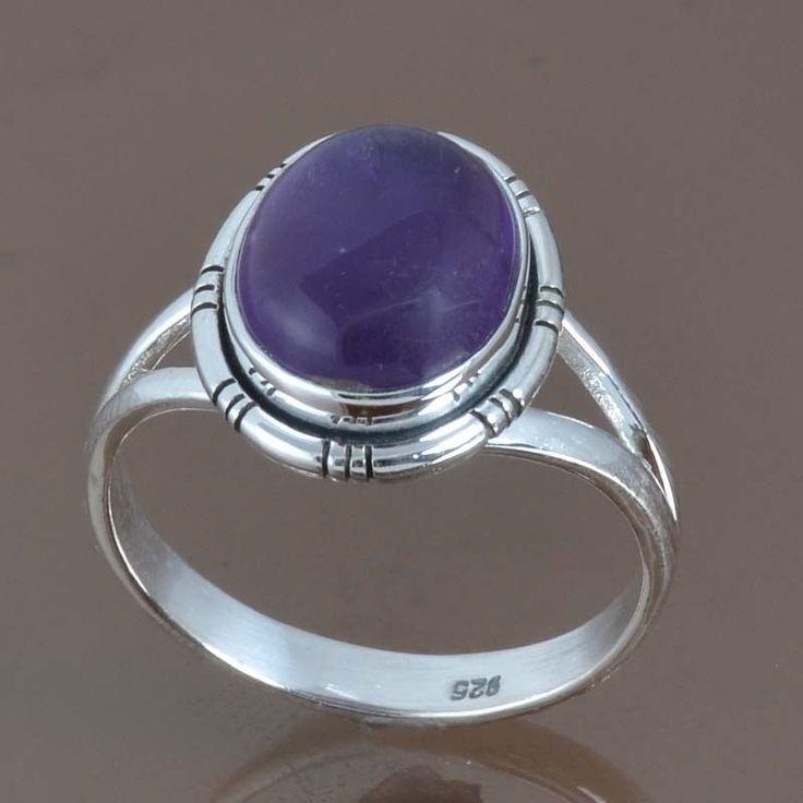 NEW DESIGNER 925 STERLING SILVER AMETHYST AMAZING RING 4.13g DJR9060 SZ-9 #Handmade #Ring