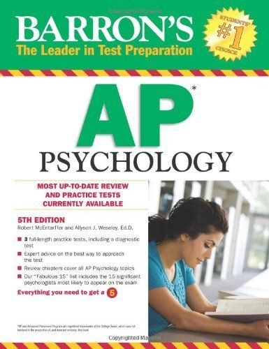 Barrons AP Psychology Edition Exam A Book By Robert McEntarffer Allyson J