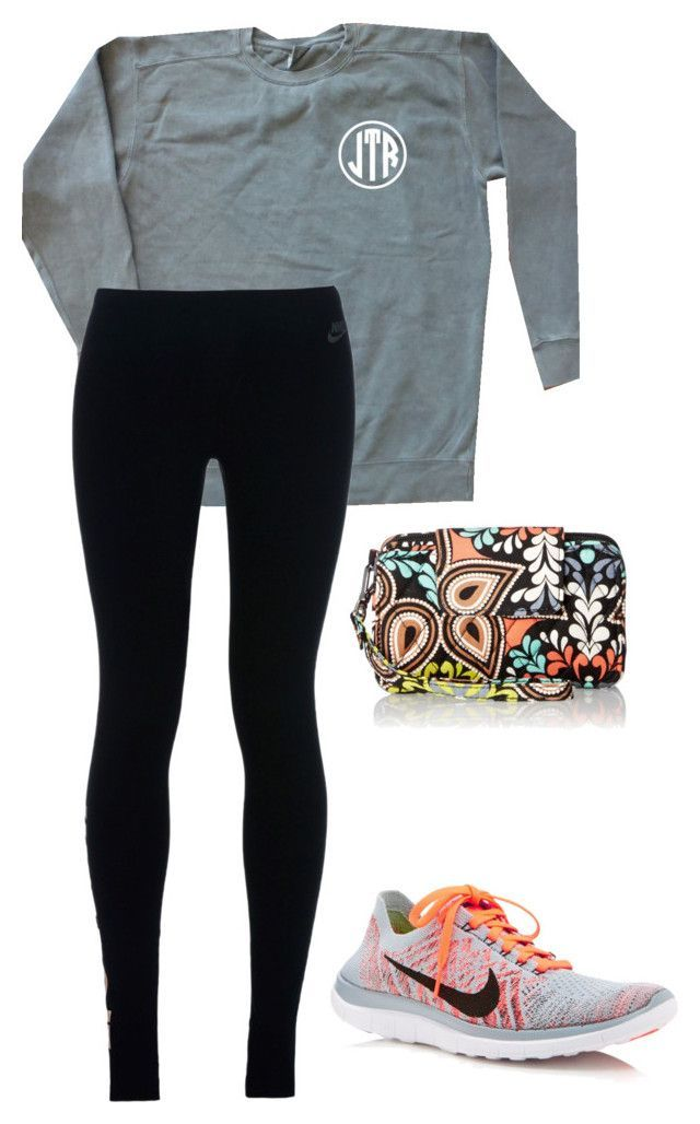 """Going Christmas shopping again, YAY!"" by southernstruttin ❤ liked on Polyvore featuring NIKE and Vera Bradley"