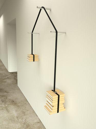 Il peso della cultura:  Read-unread bookshelf by niko economidis design