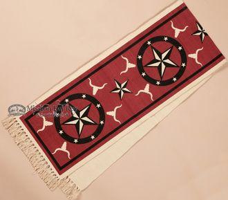 Southwestern Table Runner 13x72 -Red Star (hirun160)