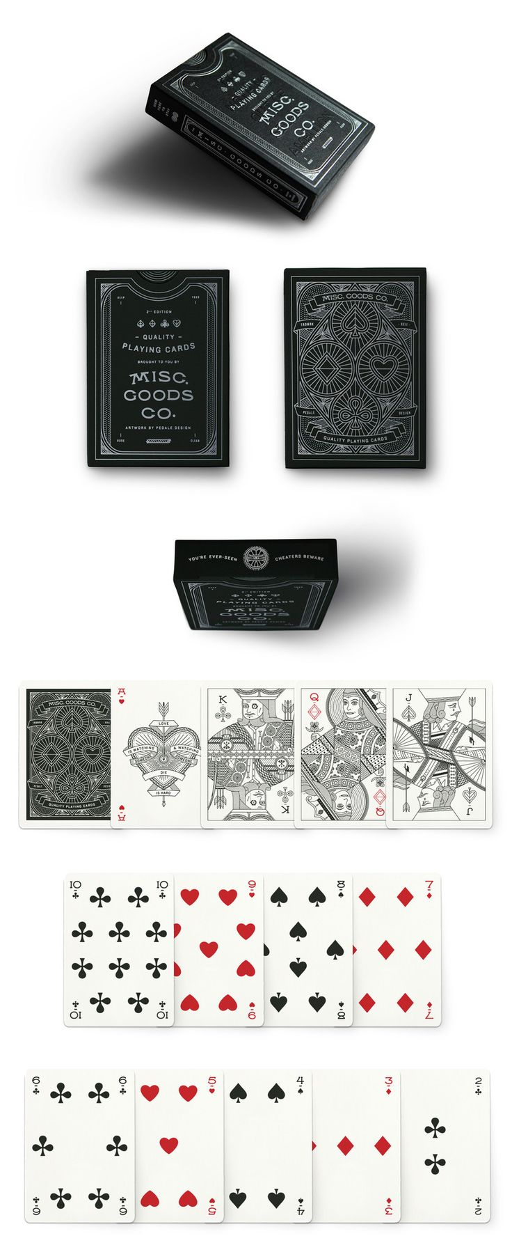 Tyler Deeb re-designed a deck of cards from front to back, in response to the staggering amount of support he received from his first KickStarter Project. Now, through Misc. Goods Co., Tyler will continue designing and developing new products including items based on his successful deck of playing cards.
