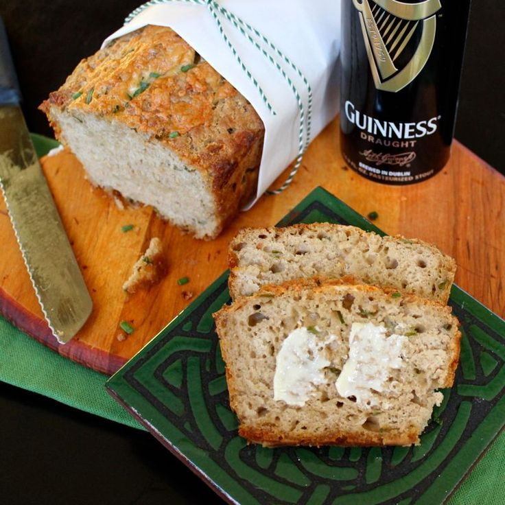 Cheddar & Chive Guinness Bread | Irish Food Recipes ...