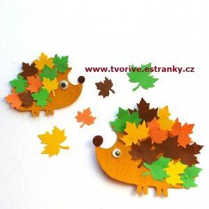 Stránky pro tvořivé - malé i velké - Podzim - Vyrábíme ježka - speciál