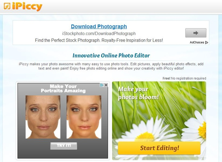 Use this free downloadable photoediting software to improve existing photos. Photos can be shared through social media or saved.  http://ipiccy.com/