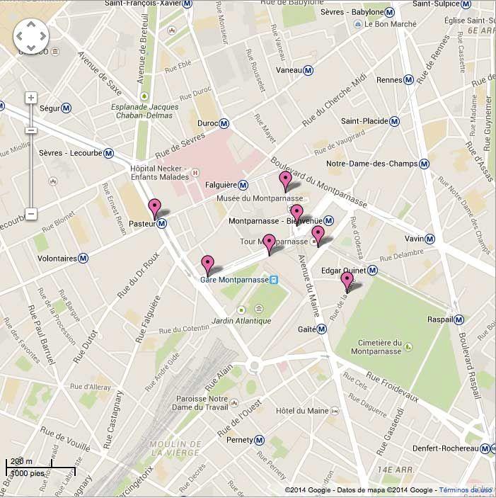 Comer en zona Montparnasse. Paris