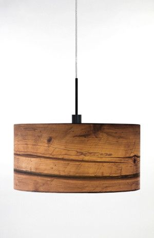 Warmth of the light thru the wood veneer will be wonderful. I've now found a good source for wood veneer drum shades - http://www.sponndesignshop.com/