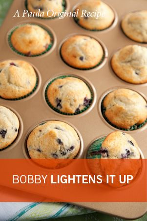 Bobby's Lighter Blueberry Muffins
