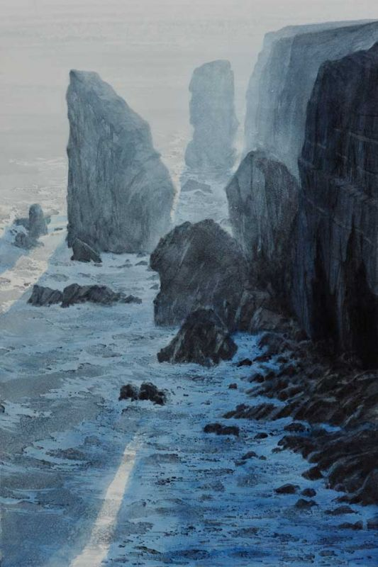 Naomi Tydeman RI, Stack Rocks, Backlit