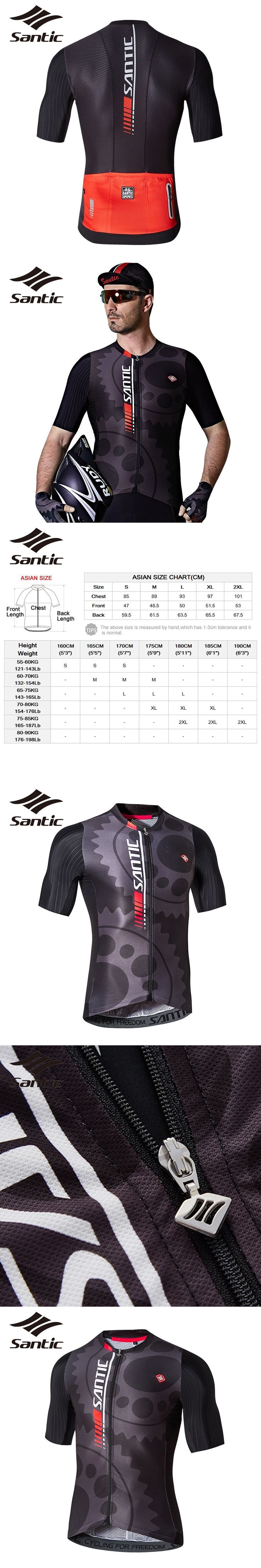 Santic Cycling Jersey Men's Designer Road Bike Windbreaker Maillot Ciclismo Short Sleeve Motocross Jersey Sky Bike Clothes 201