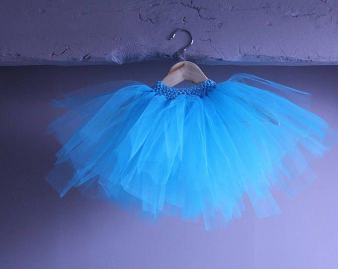Tutu de danseuse étoile 2 à 5 ans bleu turquoise avec ceinture assortie