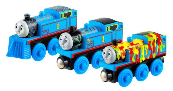 Thomas The Train Wooden Railway Set Fisher Price Adventures of Thomas Toy Train #FisherPriceThomas