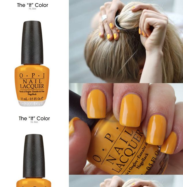 OPI'S THE 'IT' COLOUR: Mustard yellow. Where have you been all my life, Finally. Jeez