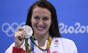 Jazz Carlin with her second silver medal of the games when she paid tribute to…