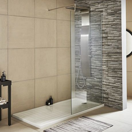Premier Wetroom Screen   Square Support Arm (Various Sizes)