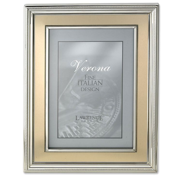 Amazon.com - Lawrence Frames 8 by 10-Inch Silver Plated Metal Picture Frame, Brushed Gold Inner Panel - Luxury Frames