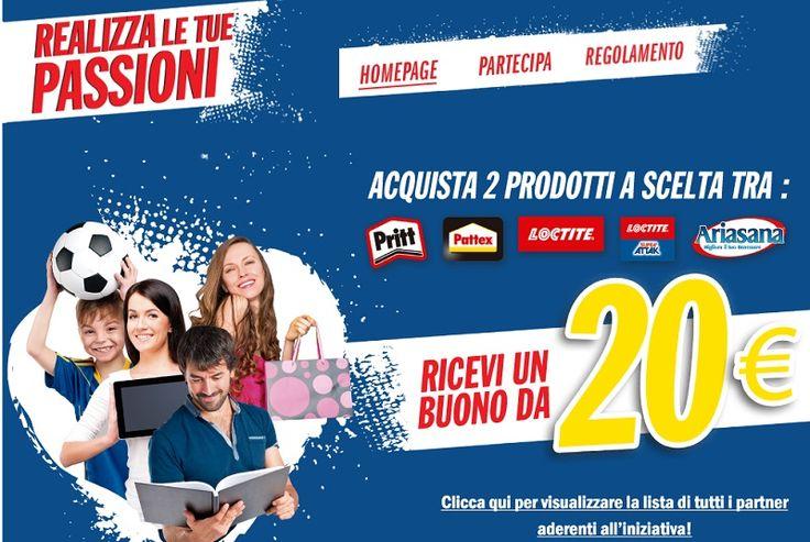 Buono Spesa da 20€ con Pritt, Loctite e Ariasana