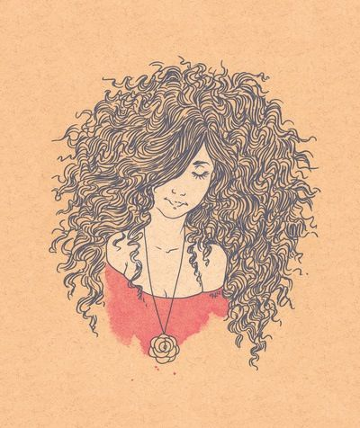 Girl Hairstyle Quotes : Natural hair curly drawing hair affair pinterest drawings