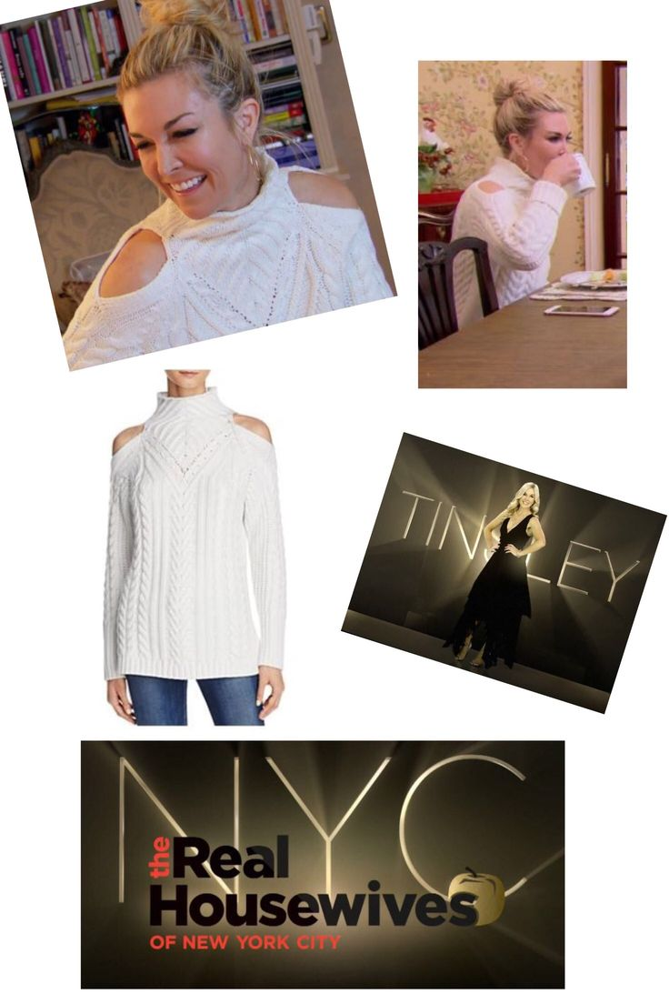 Tinsley Mortimer's Cold Shoulder Sweater Real Housewives of New York Season 9 Fashion and Style Tinsley Mortimer's Cold Shoulder Sweater http://www.bigblondehair.com/real-housewives/rhony/tinsley-mortimers-cold-shoulder-cable-sweater/ #RHONY