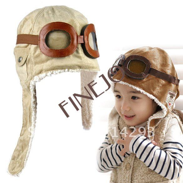 Buy Free shipping NEW Wholesale retail children hats boys flight caps kids winter hats Earflap Cap Beanie Pilot 7753 on Aliexpress.com