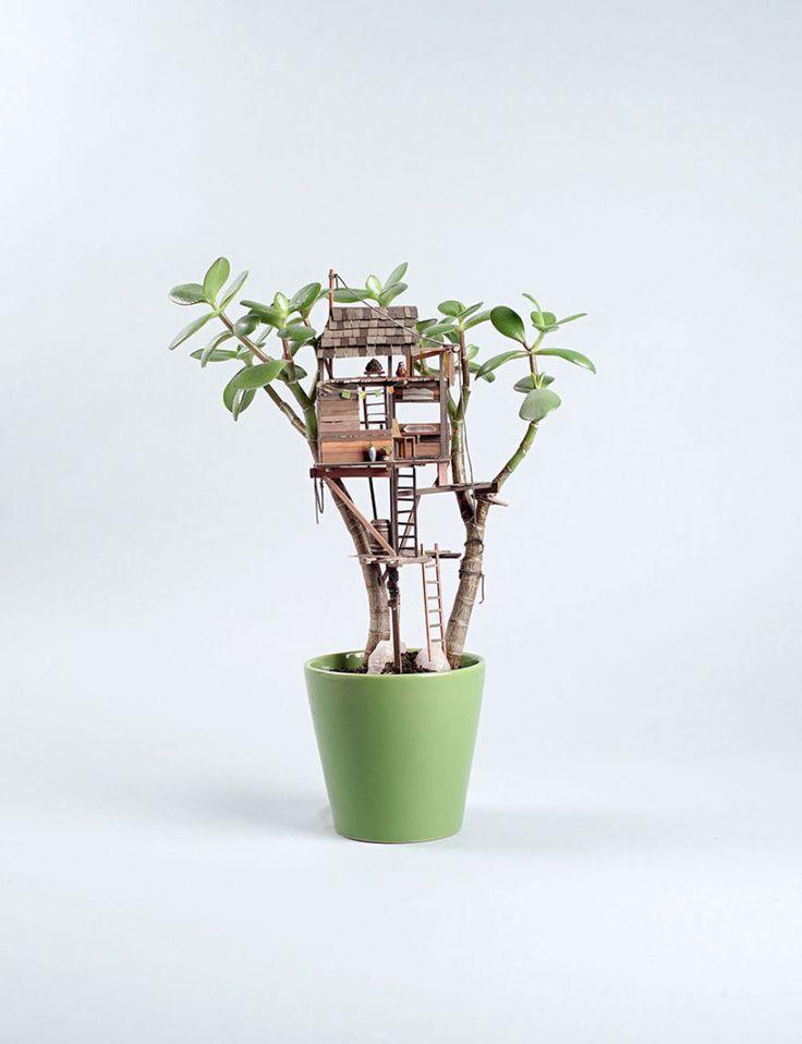 Mini-treehouse: piccole case per piante da appartamento! - Bioradar Magazine