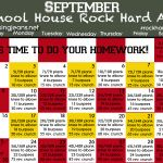 Monthly Workout Calendar - The Sisterhood of the Shrinking Jeans LLC - September