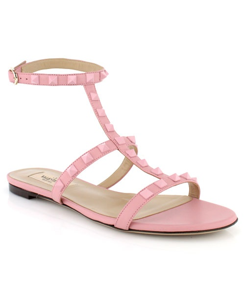 Valentino - Pink Rockstud Sandal