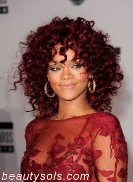 Dark Red Hair Color for African American Hair - for more great hair style pictures, click http://www.africanamericanhairstylestrend.com