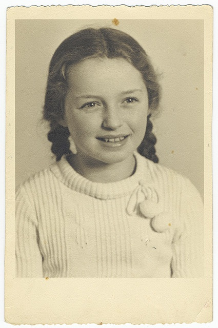 Helga Kann, little German Jewish girl. Photo taken before WW2, nothing else is known. She likely perished in the Holocaust.