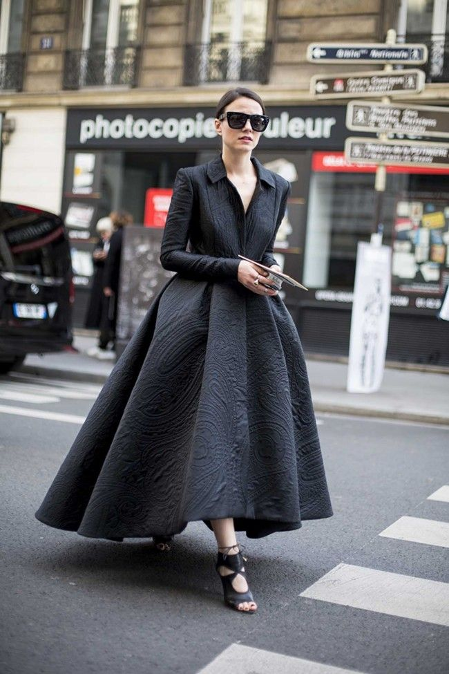 The best street style from Fall 2015 Paris fashion week - Zina Charkoplia in Ashi Studio Couture #fashionvibe